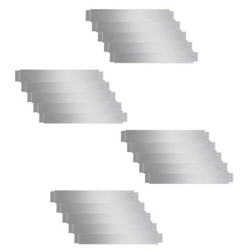 20 db hajlékony galvanizált acél gyep kerítés szett 100 x 15 cm - utánvéttel vagy ingyenes szállítással