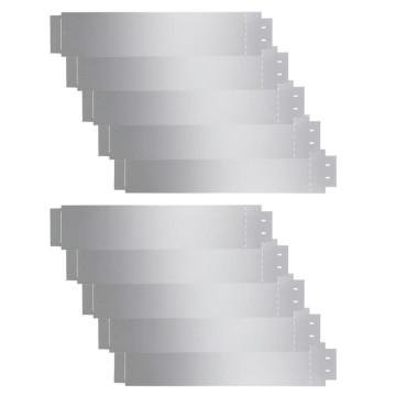 10 db galvanizált acél gyepkerítés 100 x 20 cm - utánvéttel vagy ingyenes szállítással