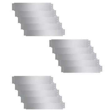 15 db galvanizált acél gyepkerítés 100 x 20 cm - utánvéttel vagy ingyenes szállítással