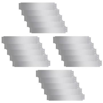 20 db galvanizált acél gyepkerítés 100 x 20 cm - utánvéttel vagy ingyenes szállítással