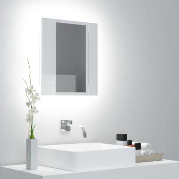 Magasfényű fehér LED-es fürdőszobai tükrös szekrény 100x12x45cm - utánvéttel vagy ingyenes szállítással