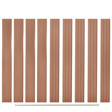 9 db barna WPC kerítésléc (pótelem) 170 cm - utánvéttel vagy ingyenes szállítással
