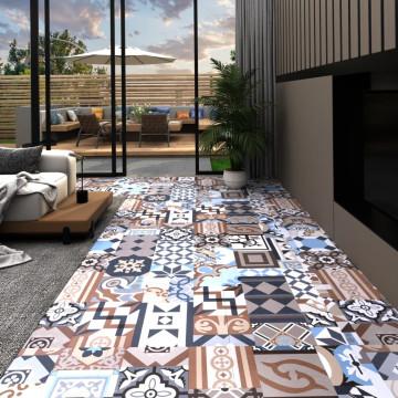20 db mono mintás öntapadó PVC padlólap 1,86 m² - ...