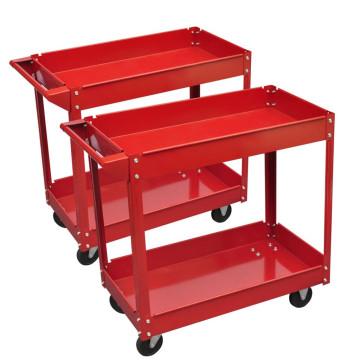 2 x Műhely Szerszám Kocsi 100 kg 2 Polc - utánvéttel vagy ingyenes szállítással