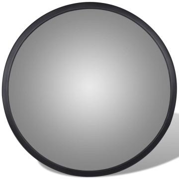 Konvex beltéri közlekedési tükör fekete akril 30 cm - ingyenes szállítás