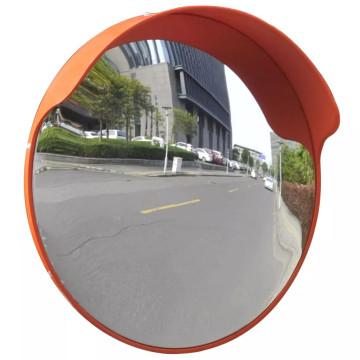 Konvex kültéri közlekedési tükör narancssárga polikarbonát 45 cm - ingyenes szállítás