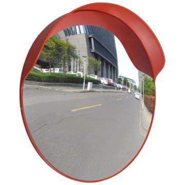 Konvex kültéri közlekedési tükör narancssárga polikarbonát 60 cm - ingyenes szállítás