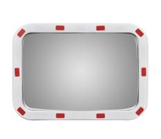 Konvex négyszögletes közlekedési tükör fényvisszaverőkkel 40 x 60 cm - utánvéttel vagy ingyenes szállítással