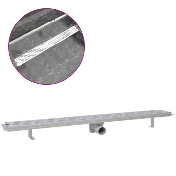 1030x140 mm lineáris rozsdamentes acél hullámos zuhany lefolyó - utánvéttel vagy ingyenes szállítással
