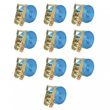 10 db kék racsnis spanifer, 2 tonna 6 m x 38 mm - utánvéttel vagy ingyenes szállítással