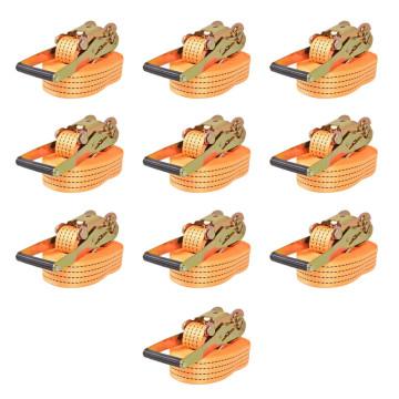 10 db narancssárga racsnis spanifer 2 tonna 8 m x 50 mm - utánvéttel vagy ingyenes szállítással