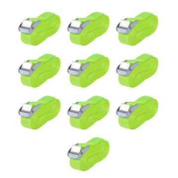 10 db fluoreszkáló zöld spanifer, 0,25 t, 5 m x 25 mm - utánvéttel vagy ingyenes szállítással