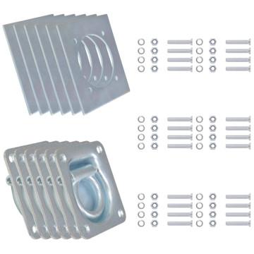 6 db horganyzott acél rögzítőgyűrű trélerhez 2000 kg - utánvéttel vagy ingyenes szállítással