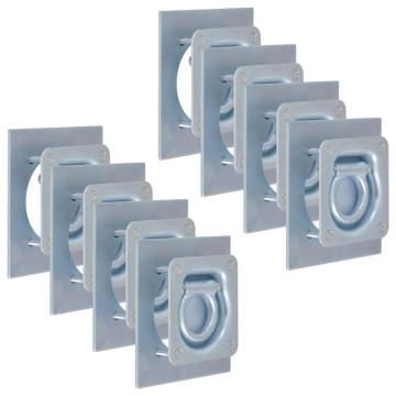 8 db horganyzott acél rögzítőgyűrű trélerhez 2000 kg - utánvéttel vagy ingyenes szállítással