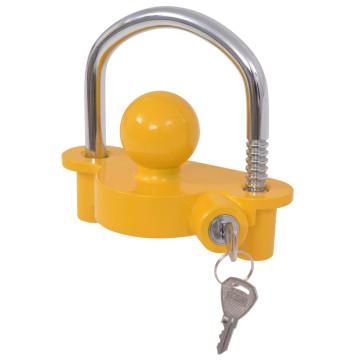 Kapcsolófejzár acélból és alumíniumból 2 kulccsal sárga - utánvéttel vagy ingyenes szállítással