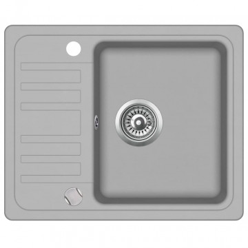 Szürke, egymedencés gránit mosogatótálca - ingyenes szállítás