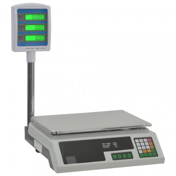 Elektronikus csomagmérleg LCD-kijelzővel, 30 kg - ingyenes szállítás
