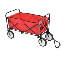 Piros acél összecsukható kézikocsi - utánvéttel vagy ingyenes szállítással