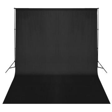 Fekete háttértartó rendszer 300 x 300 cm - utánvéttel vagy ingyenes szállítással