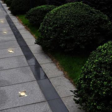 12 db négyzet alakú kültéri talajba építhető lámpa - utánvéttel vagy ingyenes szállítással