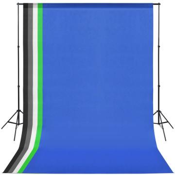 Fotó stúdió szett 5 színes háttérrel és állítható kerettel - utánvéttel vagy ingyenes szállítással