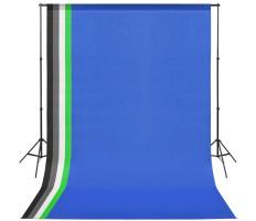 Fotó stúdió szett: 5 db színes háttér és 2 db ernyő - utánvéttel vagy ingyenes szállítással