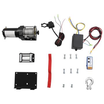 12V Elektr. Csörlő 1360kg Szerelőlap Görgő Vezeték nélküli Távirányító - utánvéttel vagy ingyenes szállítással