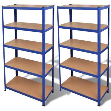 2 db kék tárolópolc - ingyenes szállítás