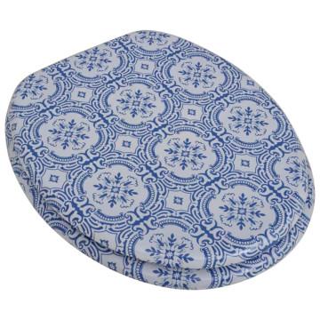 2 db porcelán mintájú MDF WC ülőke gyorsan csukódó fedéllel - utánvéttel vagy ingyenes szállítással