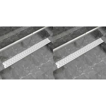 2 db lineáris rozsdamentes acél vonal zuhany lefolyó 1030x140mm - utánvéttel vagy ingyenes szállítással