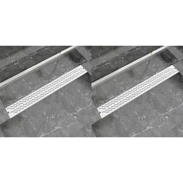 2 db lineáris rozsdamentes acél hullám zuhany lefolyó 930x140mm - utánvéttel vagy ingyenes szállítással