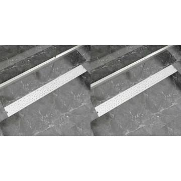 2 db lineáris acél buborék zuhany lefolyó 1030 x 140 mm - utánvéttel vagy ingyenes szállítással