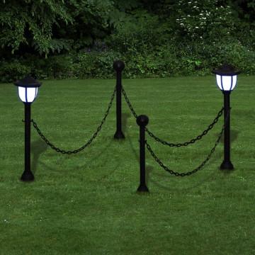 Lánc Kerítés kültéri lámpával 2 LED Lámpa Két Pózna - utánvéttel vagy ingyenes szállítással
