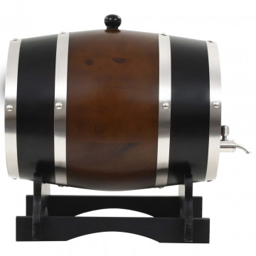 12 literes tömör fenyő boroshordó csappal - ingyenes szállítás