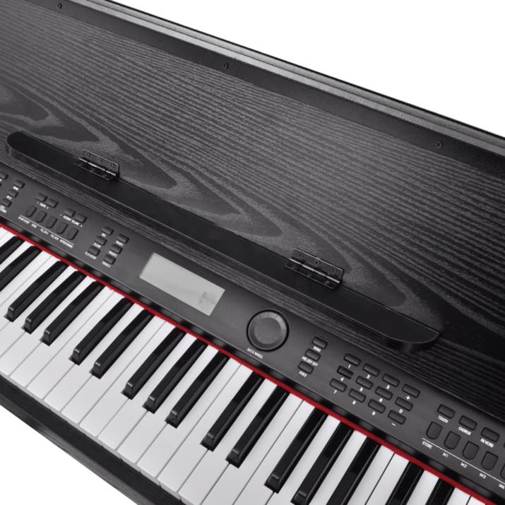 Elektromos/digitális zongora 88 billentyűvel és kottatartóval - utánvéttel vagy ingyenes szállítással