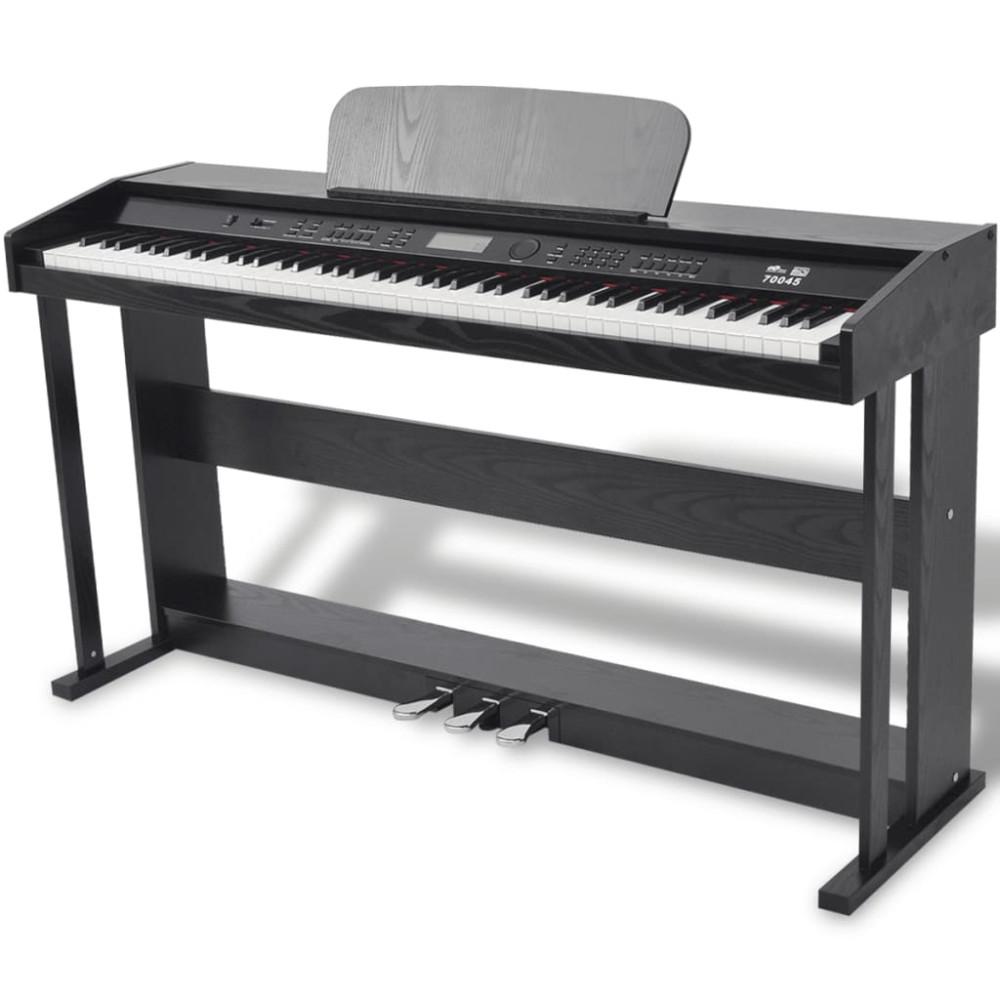 88 billentyűs digitális zongora pedálokkal fekete melamin lap - utánvéttel vagy ingyenes szállítással