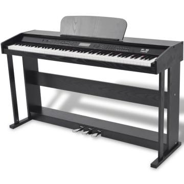 88 billentyűs digitális zongora pedálokkal fekete ...