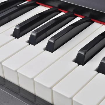 88 billentyűs digitális zongora pedálokkal fekete melamin lap - ingyenes szállítás