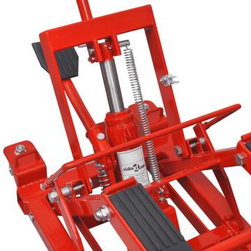 Hidraulikus Motorkerékpár/ATV emelő 680 kg piros - utánvéttel vagy ingyenes szállítással