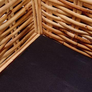 3-személyes természetes rattan kerti kanapé - ingyenes szállítás