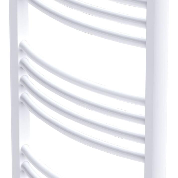 Fürdőszobai törölközőszárító radiátor központi fűtéssel oldalsó és középső csatlakozóval ívelt 600 x 1160 mm - utánvéttel vagy ingyenes szállítással