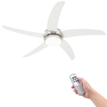 Díszes mennyezeti ventilátor lámpával 128 cm fehér - ingyenes szállítás