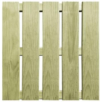 12 db zöld fa padlólap 50 x 50 cm - utánvéttel vagy ingyenes szállítással