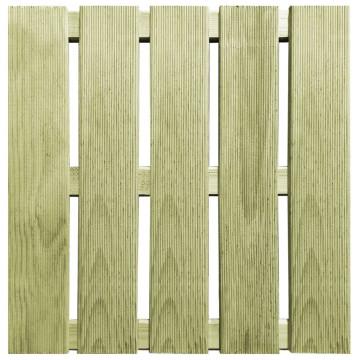 24 db zöld fa padlólap 50 x 50 cm - utánvéttel vagy ingyenes szállítással