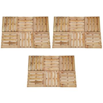 18 db barna fa padlólap 50 x 50 cm - utánvéttel vagy ingyenes szállítással