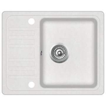 Fehér, egymedencés gránit mosogatótálca - utánvéttel vagy ingyenes szállítással