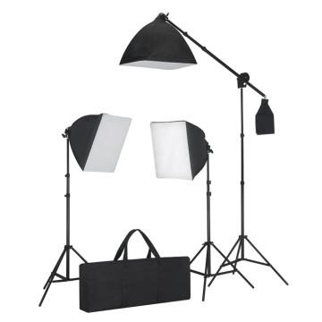Fotó stúdió szett, softbox fények, háttérfüggönyök, reflektor - utánvéttel vagy ingyenes szállítással