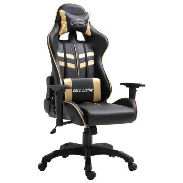Aranyszínű műbőr gamer szék - utánvéttel vagy ingyenes szállítással