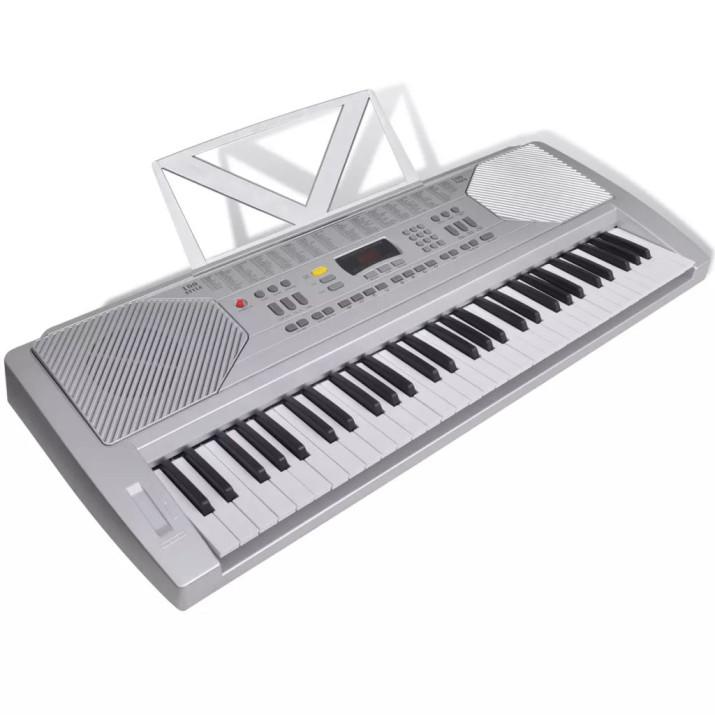 61-billentyűs szintetizátor állítható állvánnyal és zongoraszékkel - ingyenes szállítás