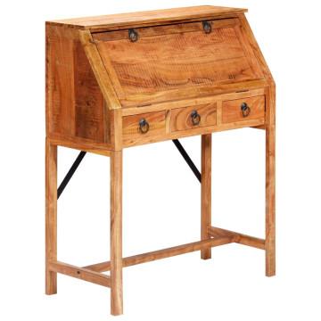 Tömör akácfa íróasztal 90 x 40 x 107 cm - ingyenes szállítás